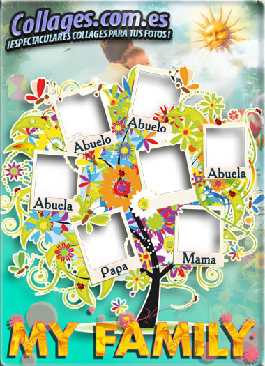 Tu propio rbol geneal gico gratis crea bonitos collages for Crea tu mural disney