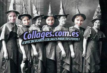 Collages con Brujas para Halloween.