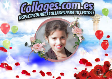 Collages Románticos con Rosas Rojas.