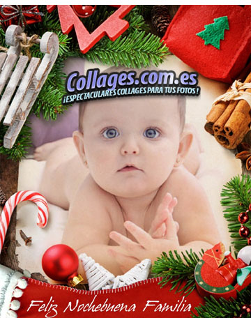 Collage online para Nochebuena.
