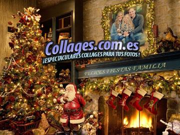 Collages Familiares de Navidad gratis.