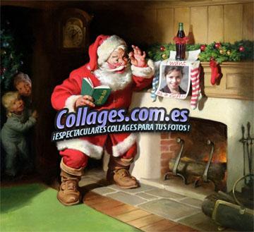Collage con Santa Claus gratis.
