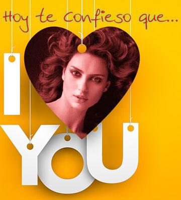 Collages online para decir Te quiero.