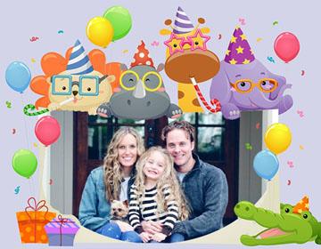 Invitaciones Collage de Cumpleaños.