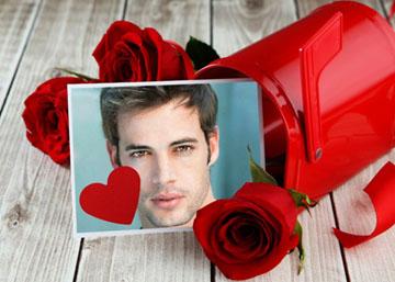 Collages Románticos con Rosas Rojas.