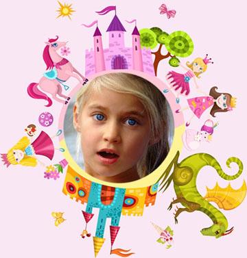 Marcos Collage con Princesas.