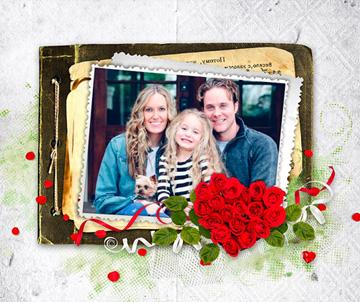 Collages con Flores para San Valentín.